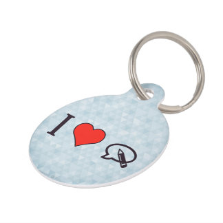 I Heart To Write My Opinion Pet ID Tag