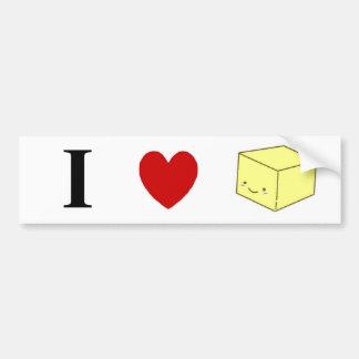 I heart Tofu Car Bumper Sticker