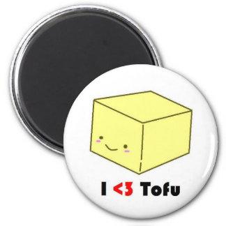 I heart Tofu Refrigerator Magnets