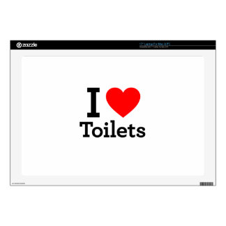 """I Heart Toilets 17"""" Laptop Decal"""