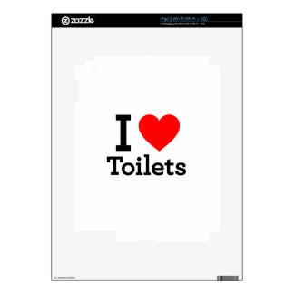 I Heart Toilets iPad 2 Decals
