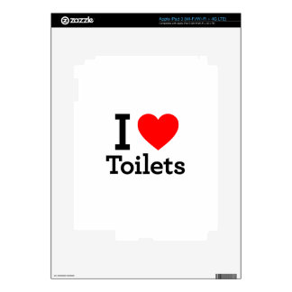I Heart Toilets iPad 3 Skins