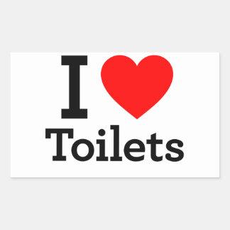 I Heart Toilets Stickers