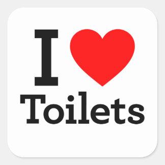 I Heart Toilets Sticker