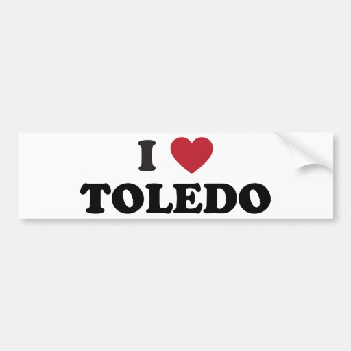 I Heart Toledo Ohio Bumper Sticker