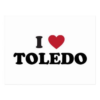 I Heart Toledo Ohio Postcard