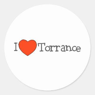 I Heart Torrance Classic Round Sticker