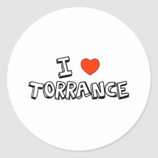 I Heart Torrance Classic Round Sticker