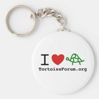 I Heart Tortoises Keychain