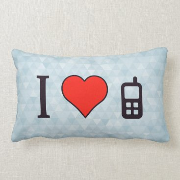 Professional Business I Heart Tough Phones Lumbar Pillow