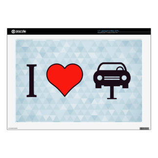 I Heart Towing Cars Laptop Decal
