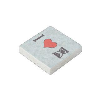 I Heart Tp Use Hourglass Stone Magnet