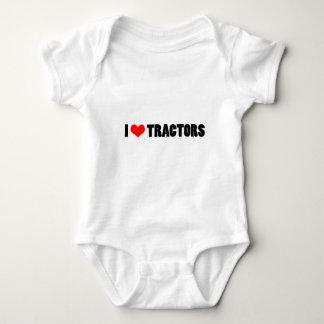 I heart tractors baby bodysuit