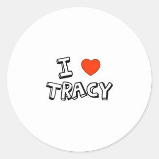 I Heart Tracy Round Stickers