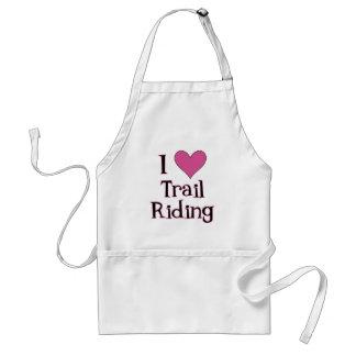I Heart Trail Riding Adult Apron