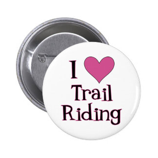 I Heart Trail Riding Pinback Buttons