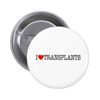 I heart Transplants Pinback Button