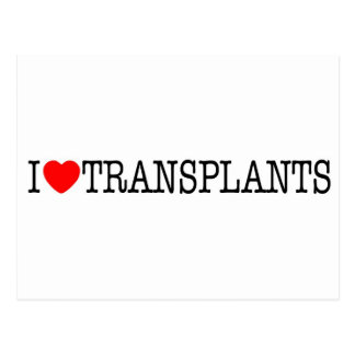I heart Transplants Postcard