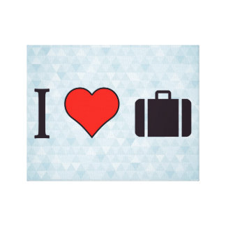 I Heart Travelling Canvas Print