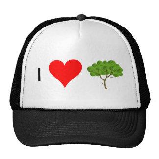 I heart tree trucker hat