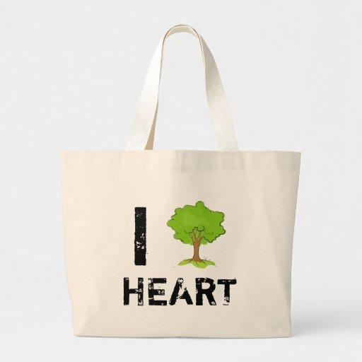 I Heart Trees Jumbo Tote Bag