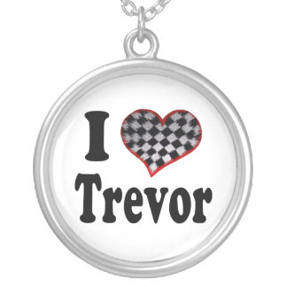 I Heart Trevor Silver Plated Necklace