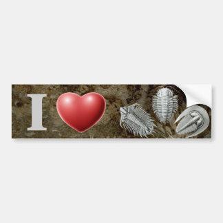 I Heart Trilobites Bumper Sticker Car Bumper Sticker