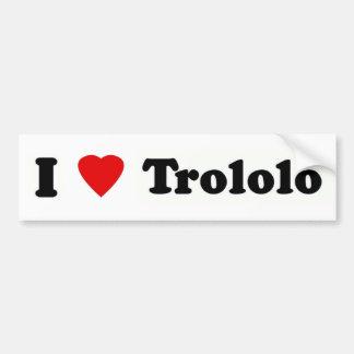 I heart trololo bumper stickers