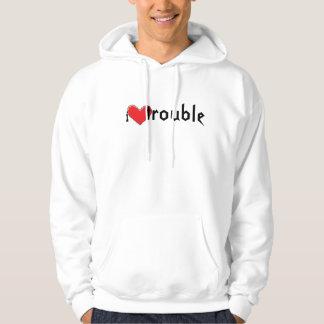 i heart trouble hoodie