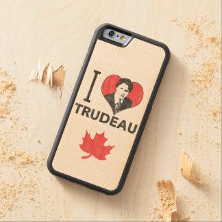 I Heart Trudeau Carved® Maple iPhone 6 Bumper Case