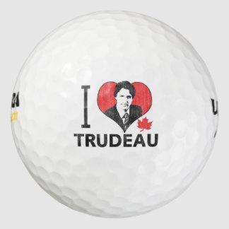 I Heart Trudeau Golf Balls