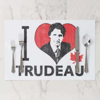 I Heart Trudeau Paper Placemat