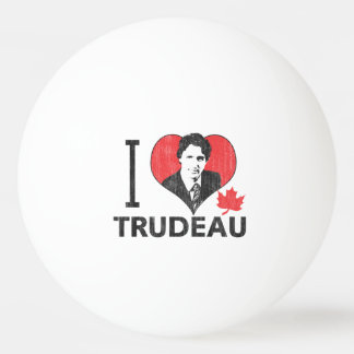 I Heart Trudeau Ping-Pong Ball