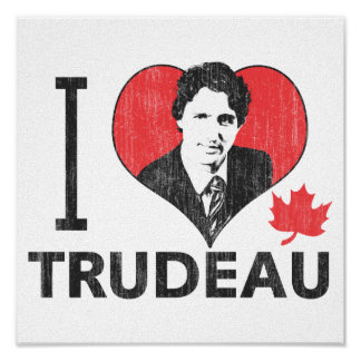 I Heart Trudeau Poster