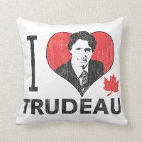I Heart Trudeau Throw Pillow