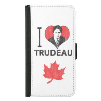 I Heart Trudeau Wallet Phone Case For Samsung Galaxy S5