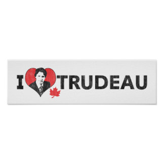 I Heart Trudeau Wide Poster