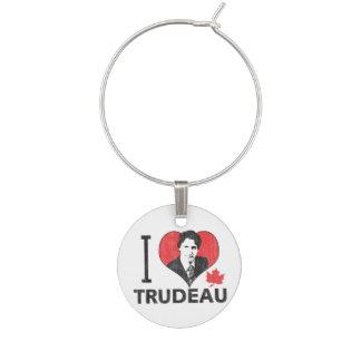I Heart Trudeau Wine Charm