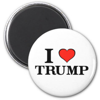 I Heart Trump 2 Inch Round Magnet