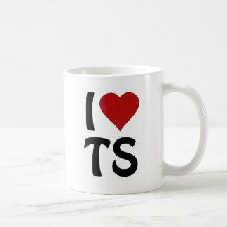 I Heart TS Classic White Coffee Mug