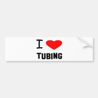 i heart tubing bumper sticker