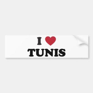 I Heart Tunis Tunisia Bumper Sticker