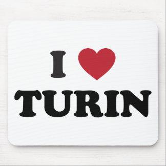 I Heart Turin Italy Mouse Pad