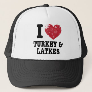 I Heart Turkeys Latkes Trucker Hat