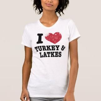 I Heart Turkeys Latkes Tee Shirt