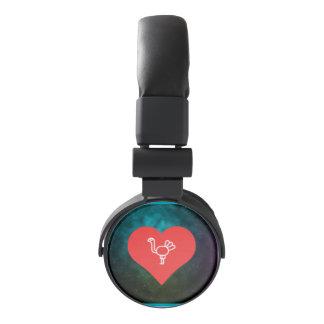 I Heart Turkeys Vector Headphones