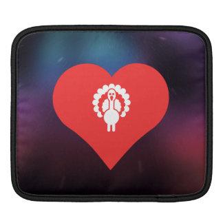 I Heart Turkeys Vector Sleeves For iPads
