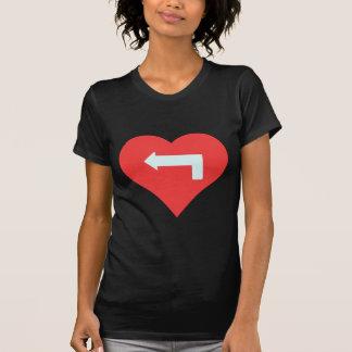 I Heart Turning Left Icon T-Shirt