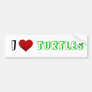 i heart turtles bumper sticker