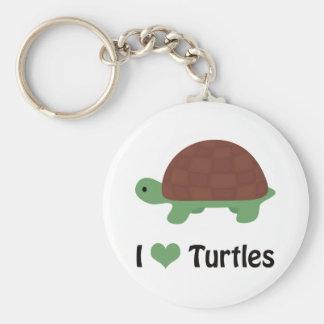 I heart turtles! keychain